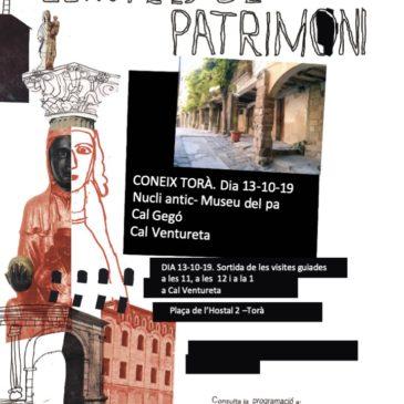 Jornades Europees de Patrimoni 2019 a Torà (JEP2019)