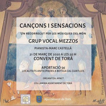 """Concert """"Cançons i sensacions"""" Grup Vocal Mezzos"""